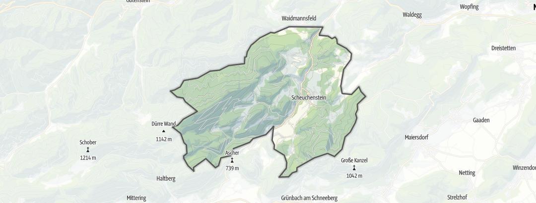 Mapa / Montanhismo em Miesenbach