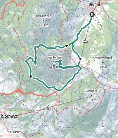 Karte / Brunni-Mythen-Brunni