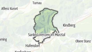 Mapa / Sankt Lorenzen im Mürztal