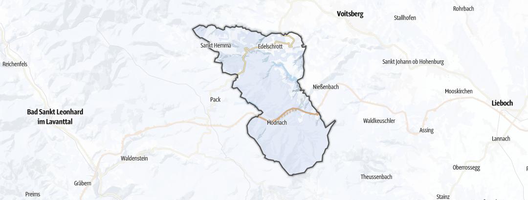 Térkép / Téli túrázás,  Edelschrott területén