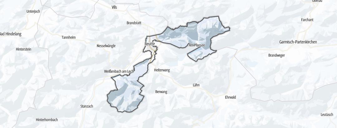 Karte / Skitouren in Reutte