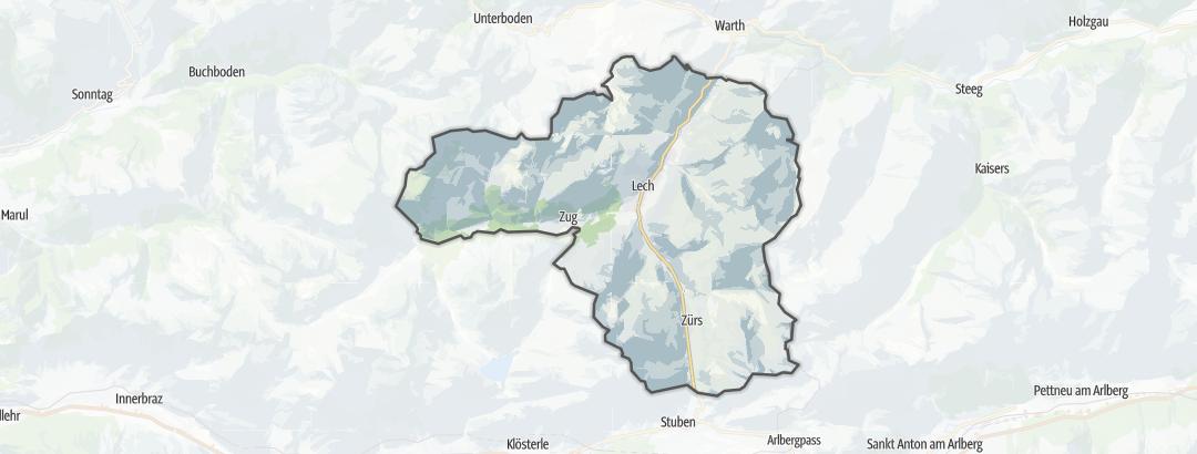 Kartta / Tuotteet ja paketit kohteessa Lech