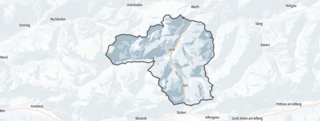 Karte / Skitouren in Lech