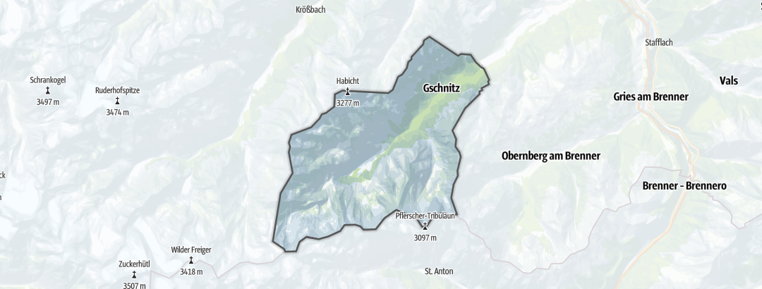 Karte / Wanderungen in Gschnitz