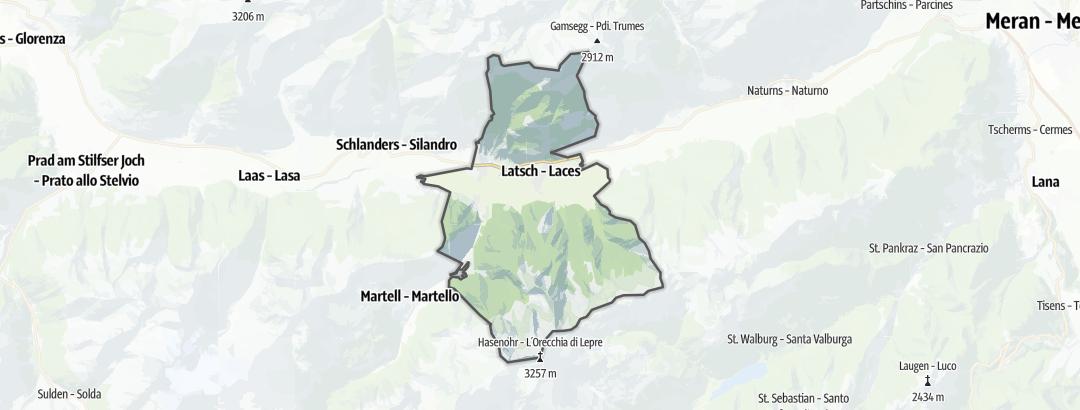 Kart / Alpin topptur i Latsch