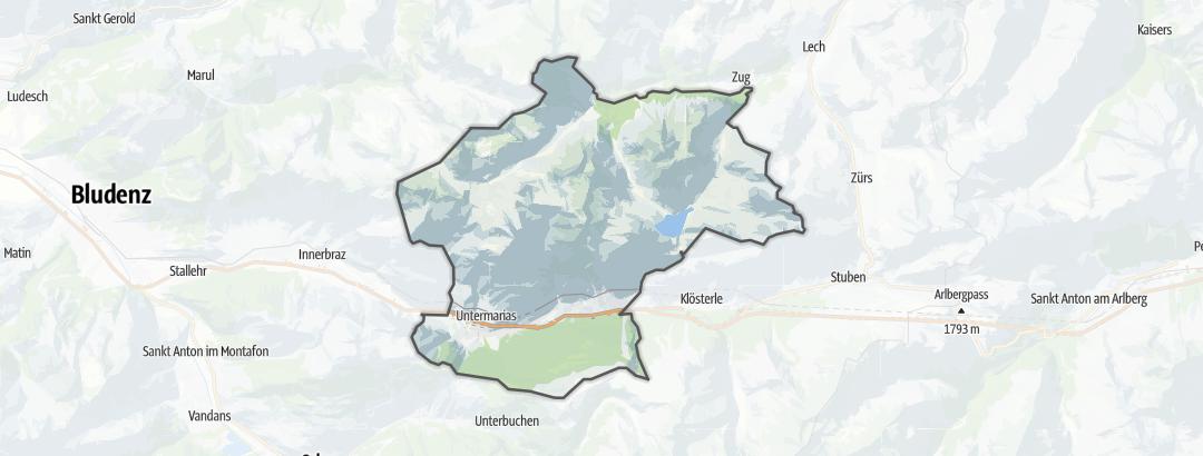 Kartta / Majoitus kohteessa Dalaas
