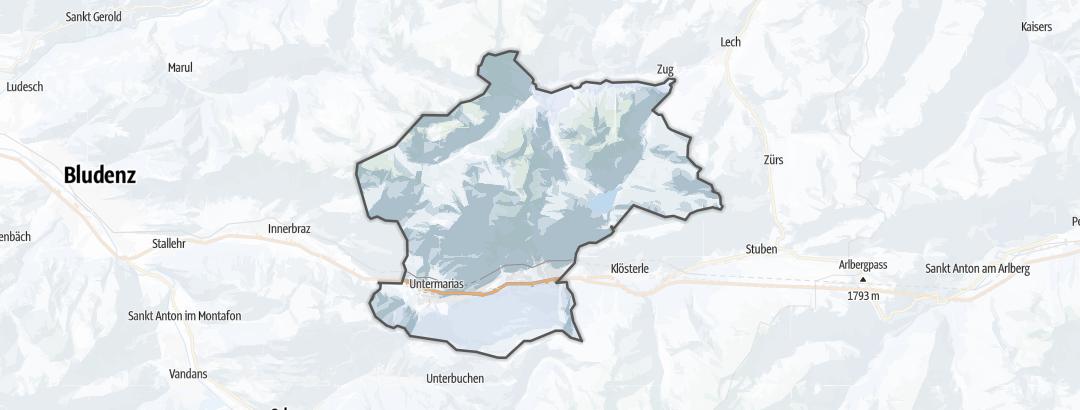 Mapa / Rutas de esquí de montaña en Dalaas