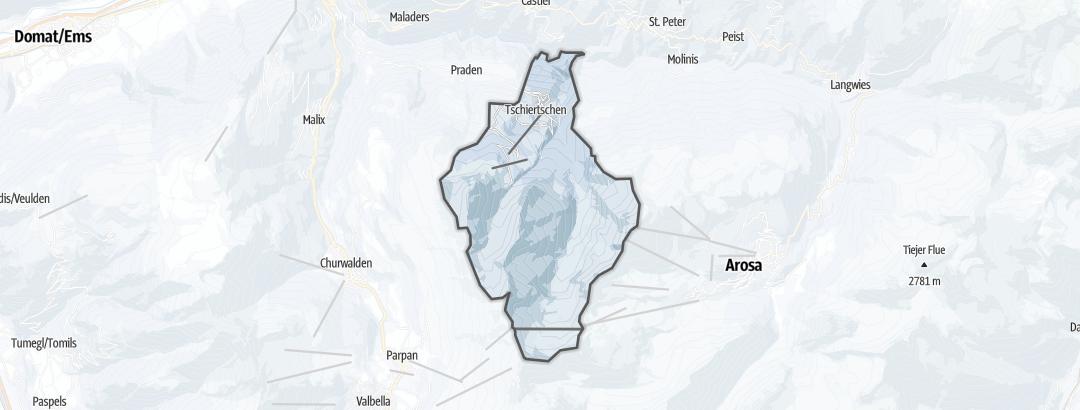 Mapa / Rutas de senderismo de invierno en Tschiertschen