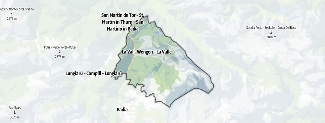 Карта / Горные походы в Wengen