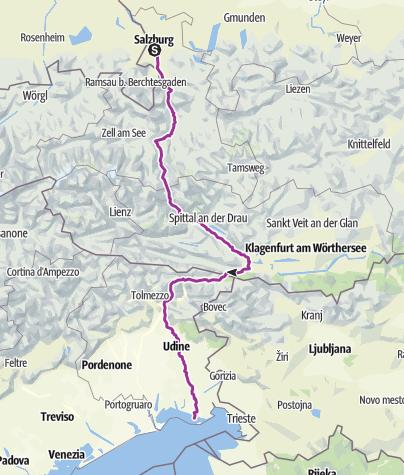 Map / Cyklostezka Alpe Adria