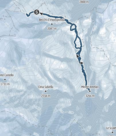 """Mapa / Monte Antelao (3.264 m) - """"König der Dolomiten"""""""