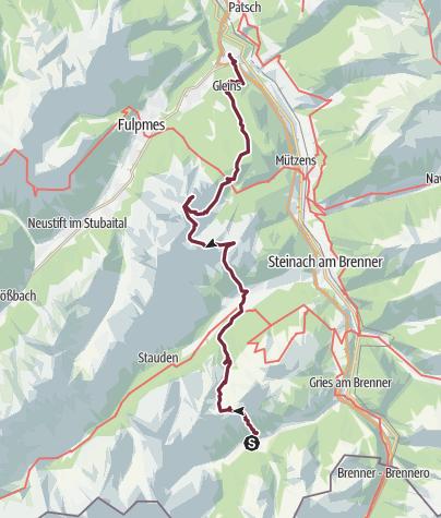 Karte / Mittelgebirgstour Obernberg-Lichtsee-Serles