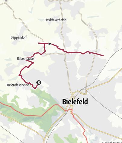 Karte / Von der Bielefelder Universität bis zum Obersee
