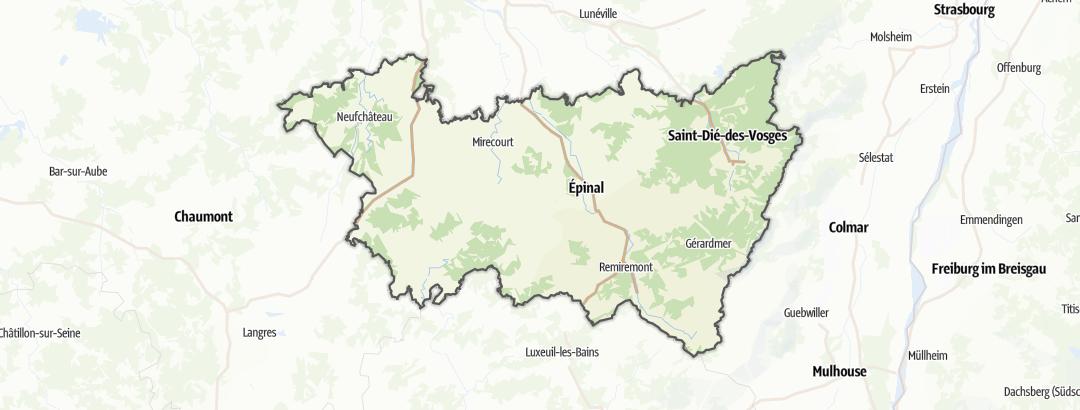 Karte / Rennradtouren in Vosges