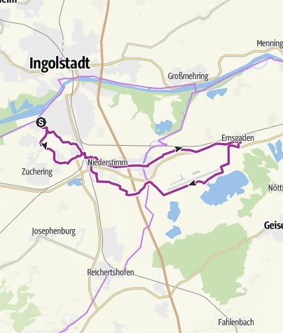 Karte / 23. Juni 2015 Radtour nach Ernsgaden