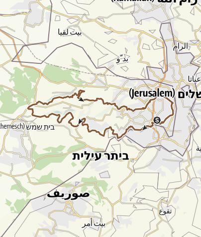 Karte / MTB-Tour, Jerusalem-Judäische Berge