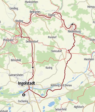 Karte / 27. Juni 2015 Rollertour Altmühltal