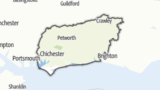 Mapa / West Sussex