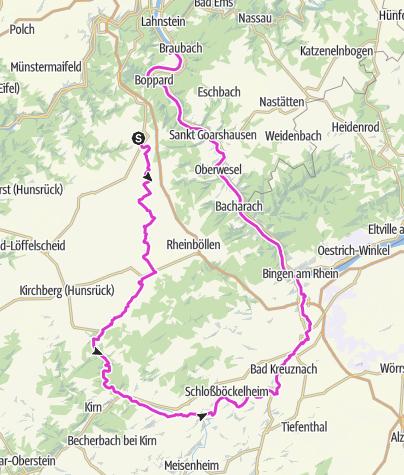 Karte / Brey-Bimmel-Argenthal-Nahhetal-Bingen
