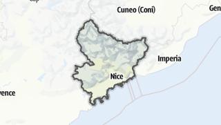Karte / Alpes-Maritimes