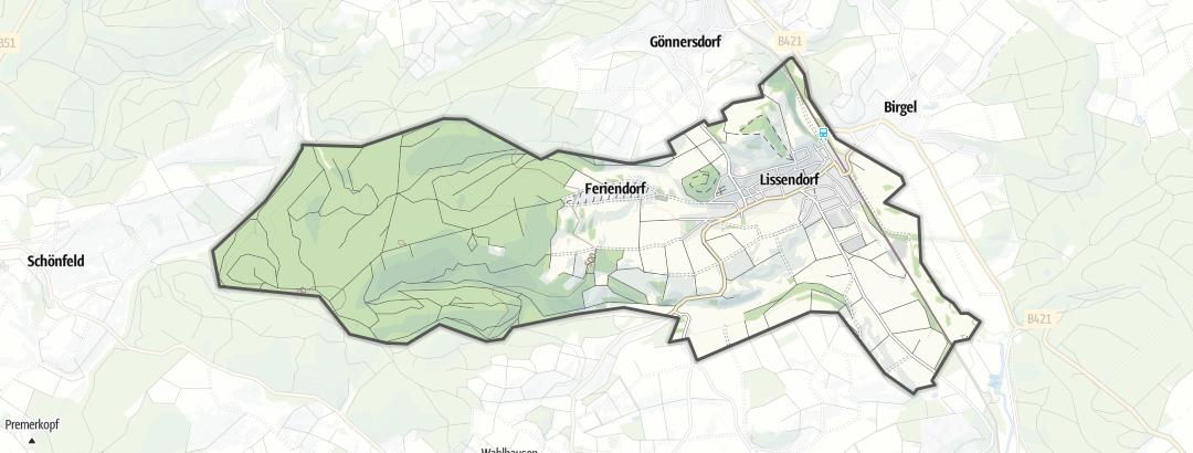 Karte / Wanderungen in Lissendorf