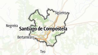 Kartta / Santiago de Compostela
