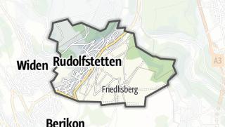 מפה / Rudolfstetten-Friedlisberg