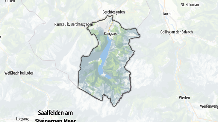 Carte / Schoenau am Koenigssee