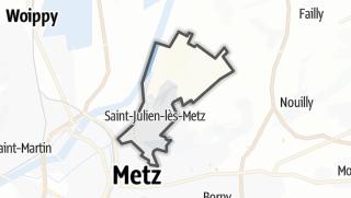 Mapa / Saint-Julien-lès-Metz