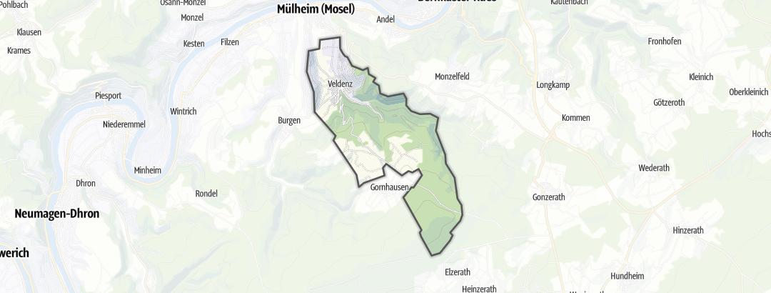 Karte / Wanderungen in Veldenz