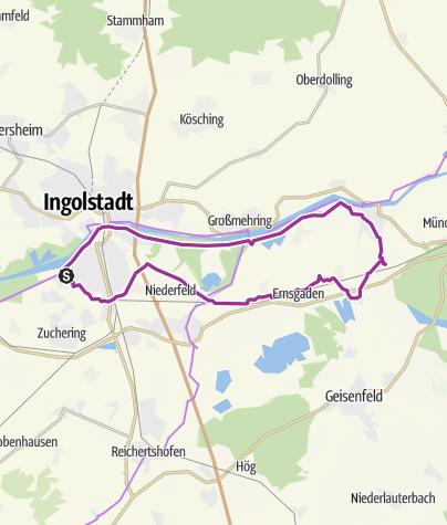 Karte / 3. Juli 2015 Ingoradler Biergartentour zur Birkenheide