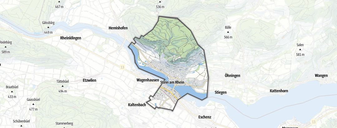 Karte / Radtouren in Stein am Rhein