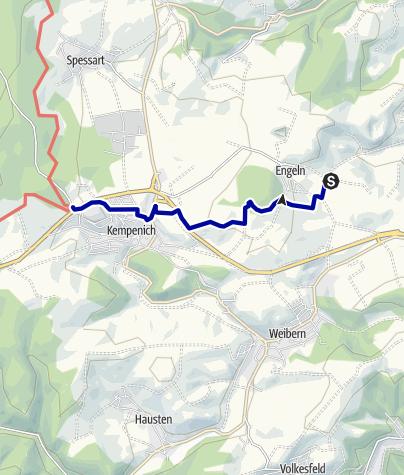 Karte / Wegbeschreibung vom Bahnhof Engeln zum Erlebniswald Steinrausch