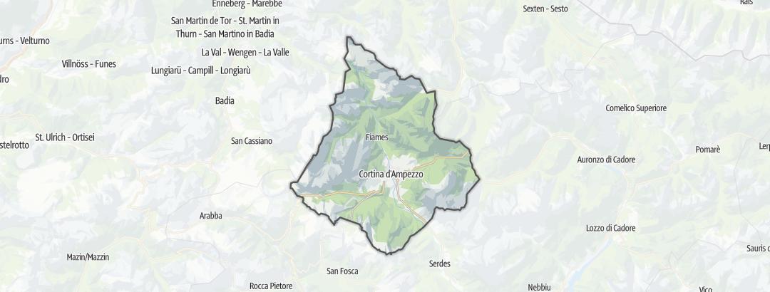 Karte / Wandern in Cortina d'Ampezzo
