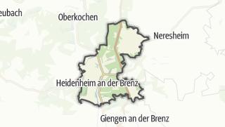 Cartina / Heidenheim an der Brenz