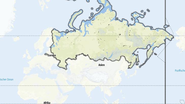 Карта / Походы на дальние расстояния в Россия