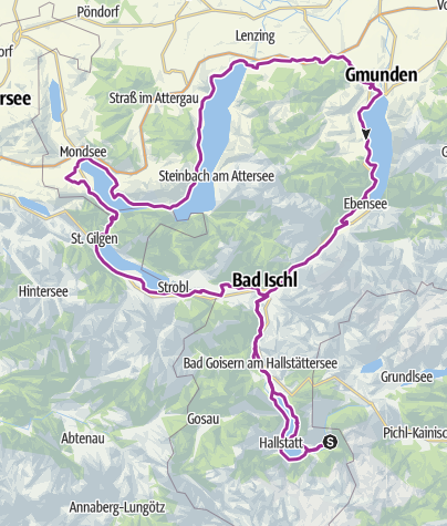 Salzkammergut Karte.Salzkammergut 5 Seen Rundtour Radtour Outdooractive Com
