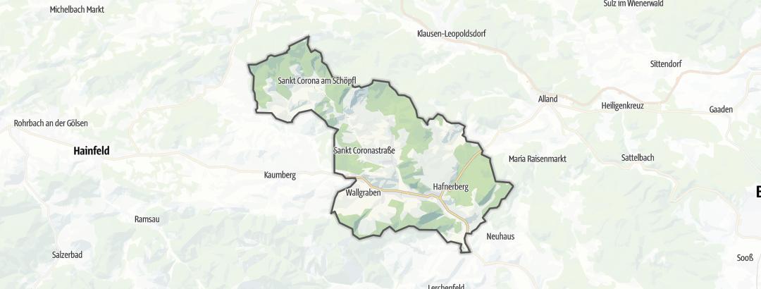 Karte / Wanderungen in Altenmarkt an der Triesting
