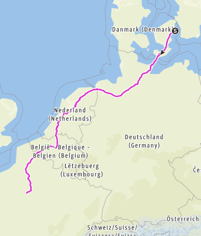 Map / Eurovelo 2015