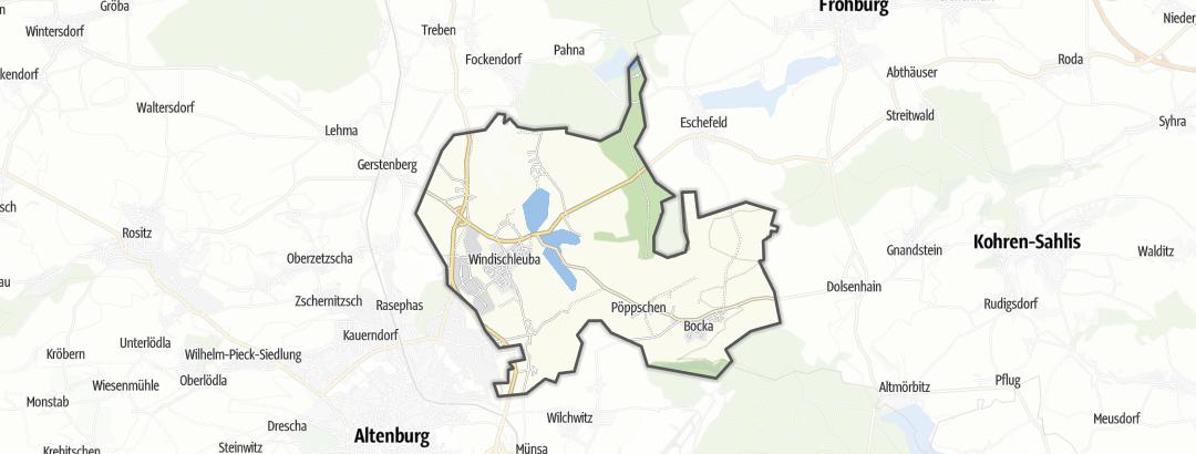 מפה / טיולים רגליים ב Windischleuba