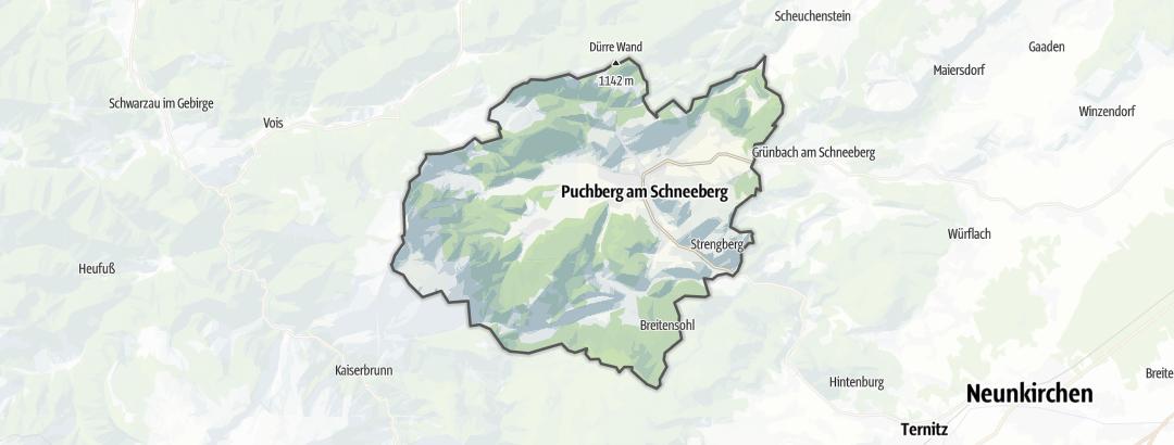 מפה / בקתות מחסה ב Puchberg am Schneeberg