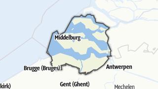 Karte / Zeeland