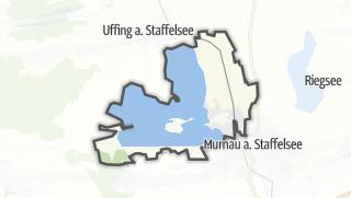 Mapa / Seehausen am Staffelsee