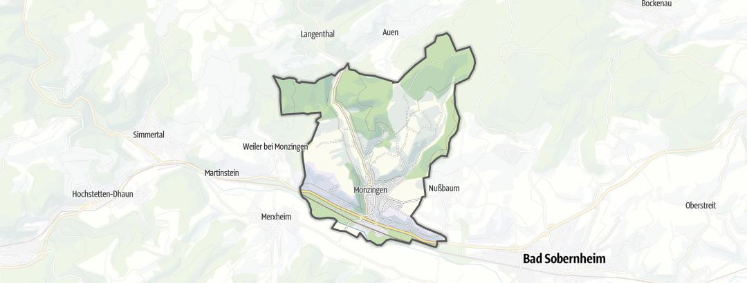 Karte / Wanderungen in Monzingen