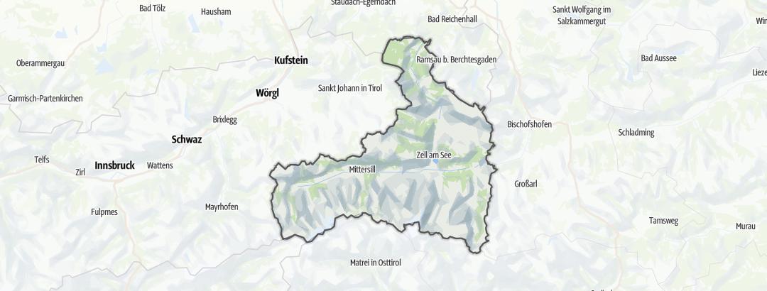 Karte / Wanderungen in Zell am See