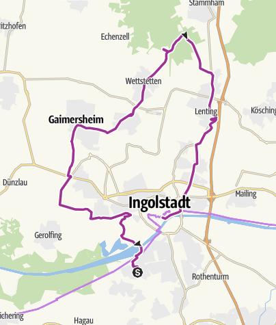Karte / 10. Juli 2015 Ingoradler Biergarten Tour Högnerhäusl
