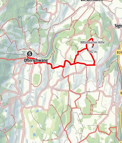 Karte / Wanderung von Ofterschwang zur Wittelsbacher Höhe