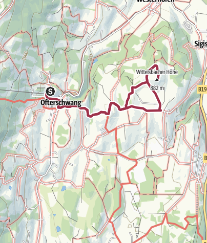 Map / Hike from Ofterschwang to Wittelsbacher Höhe