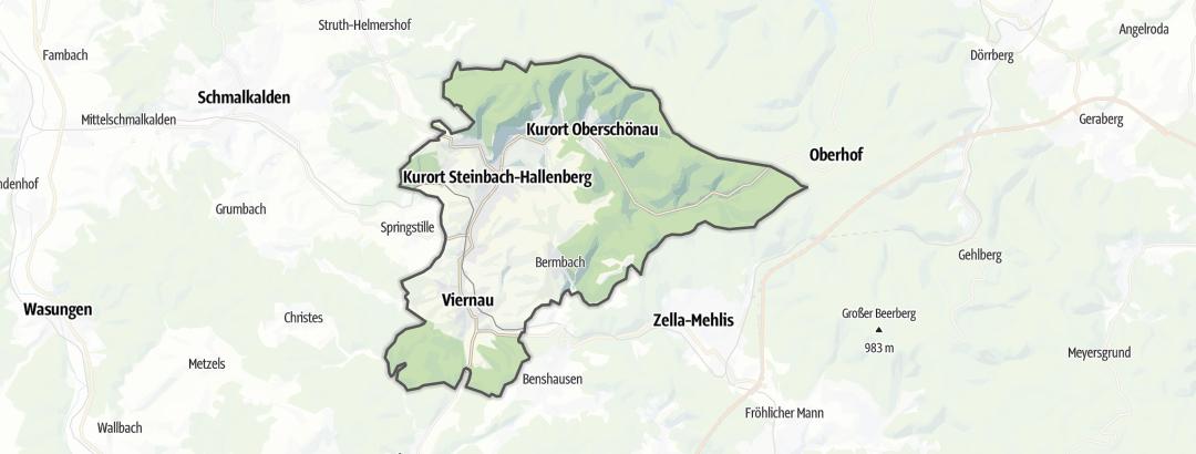 Karte / Wanderungen in Steinbach-Hallenberg