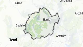 地图 / Valnerina-Cascia